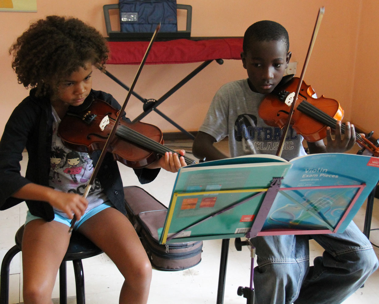 Students at the Ngoma Dolce Music Academy