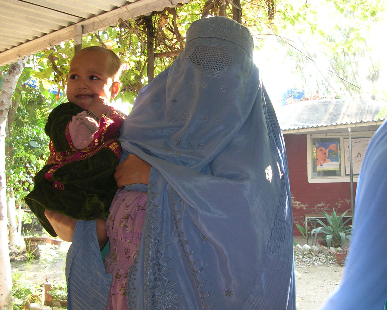 Afghan mother and baby