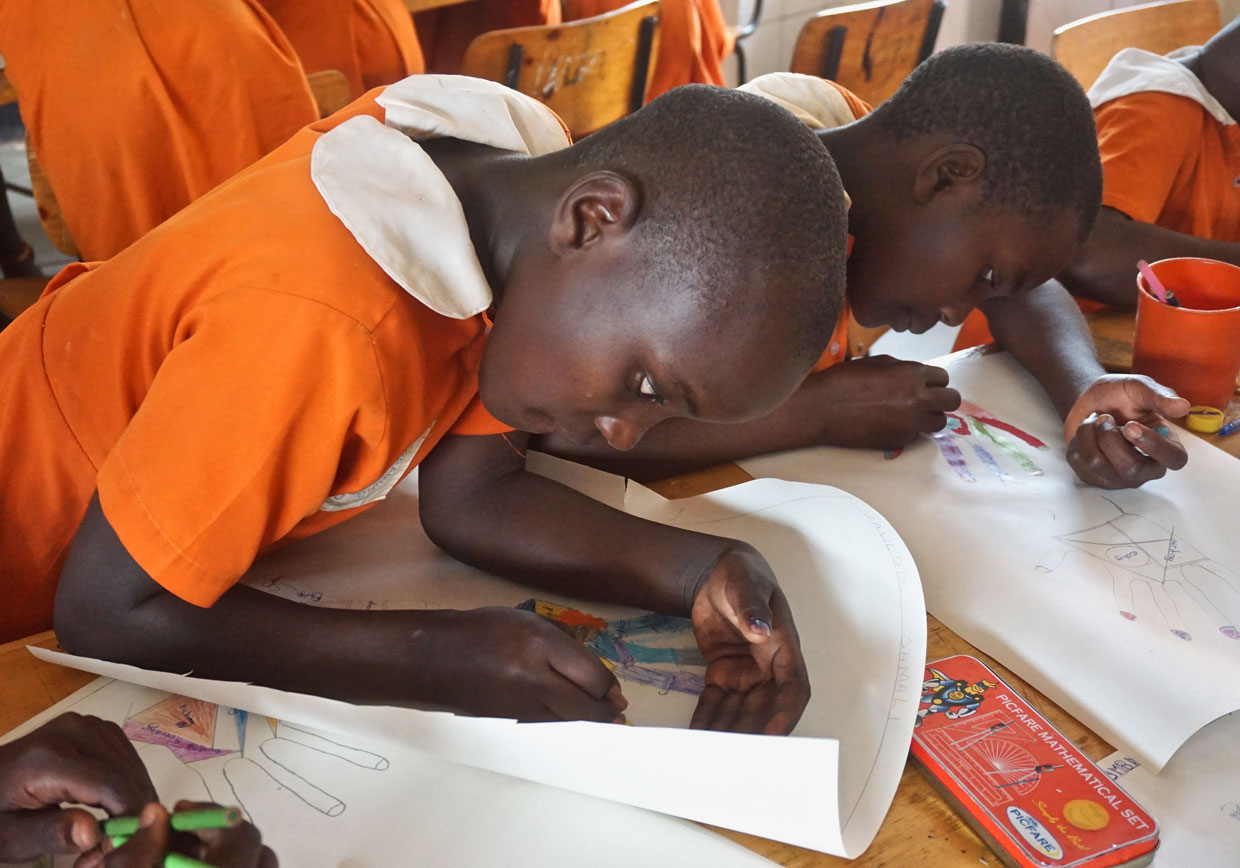 StandTall Students Studying hard
